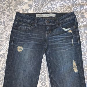 Charlotte Russe Sexy Rolled Up Cropped Jeans